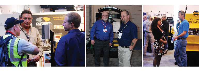Stansteel professionals talk with Conexpo visiotrs